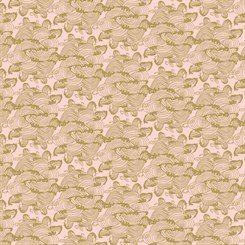 Bomuldslærred - Waves in Pink Gold Metallic by Camelot fabrics - pr. 0,25 meter
