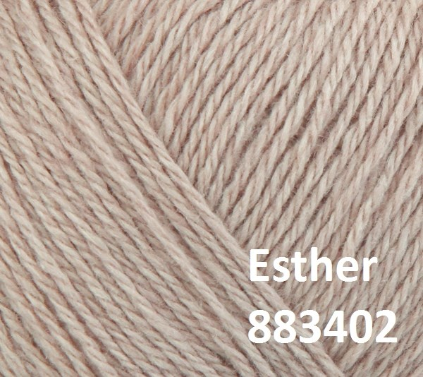 Esther by Permin garn i uld/bomuld. Farve 883402 Beige
