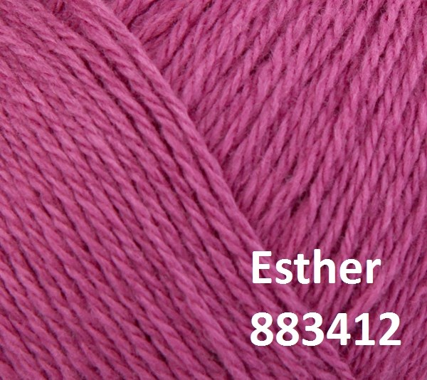 Esther by Permin garn i uld/bomuld. Farve 883412 Syren