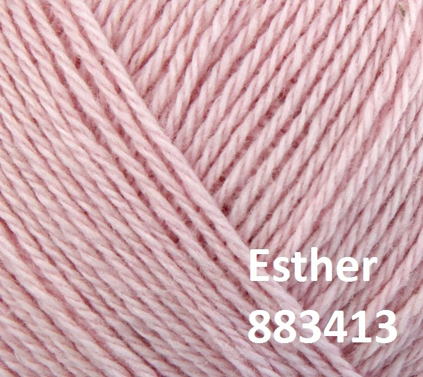 Esther by Permin garn i uld/bomuld. Farve 883413 Rosa