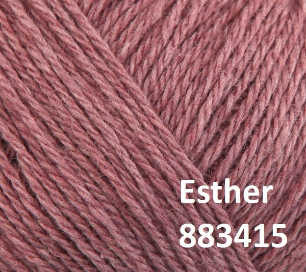 Esther by Permin garn i uld/bomuld. Farve 883415 Gammelrosa