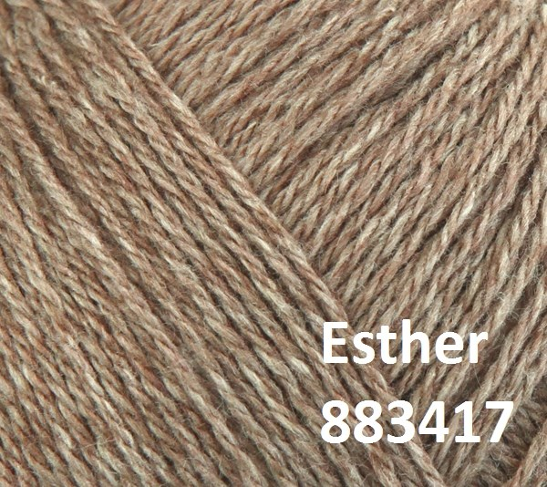 Esther by Permin garn i uld/bomuld. Farve 883417 Lys brun