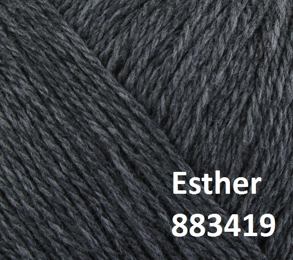 Esther by Permin garn i uld/bomuld. Farve 883419 Koksgrå