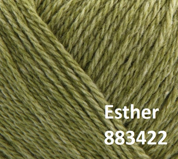 Esther by Permin garn i uld/bomuld. Farve 883422 Lime