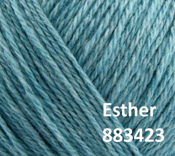 Esther by Permin garn i uld/bomuld. Farve 883423 Lys turkis