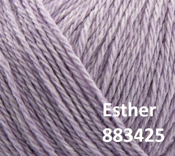 Esther by Permin garn i uld/bomuld. Farve 883425 Lilla