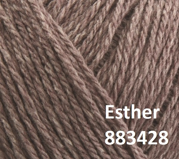 Esther by Permin garn i uld/bomuld. Farve 883428 Cocoa