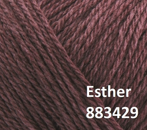 Esther by Permin garn i uld/bomuld. Farve 883429 Cassis