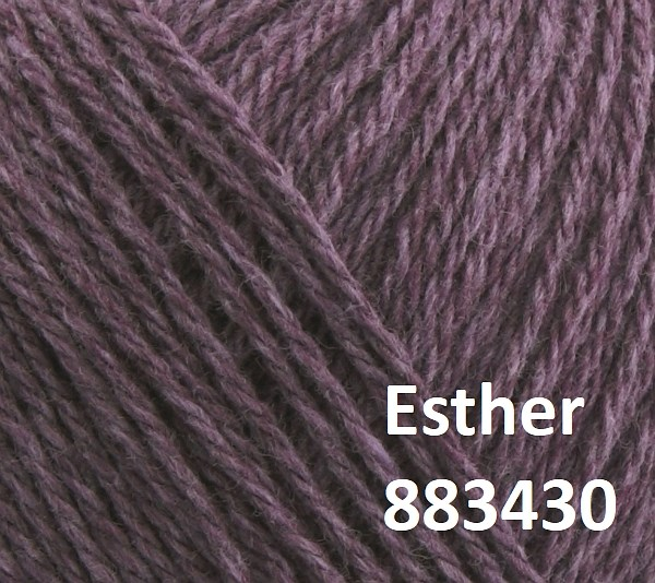 Esther by Permin garn i uld/bomuld. Farve 883430 Passion flower