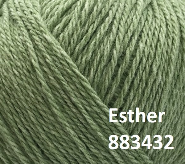 Esther by Permin garn i uld/bomuld. Farve 883432 Lys grøn