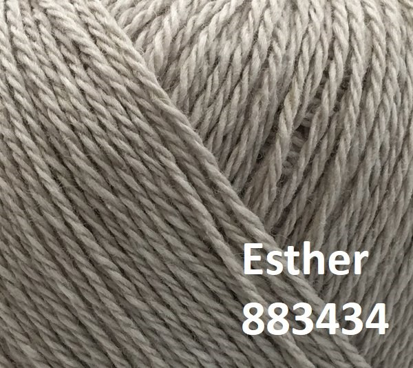 Esther by Permin garn i uld/bomuld. Farve 883434 Sand