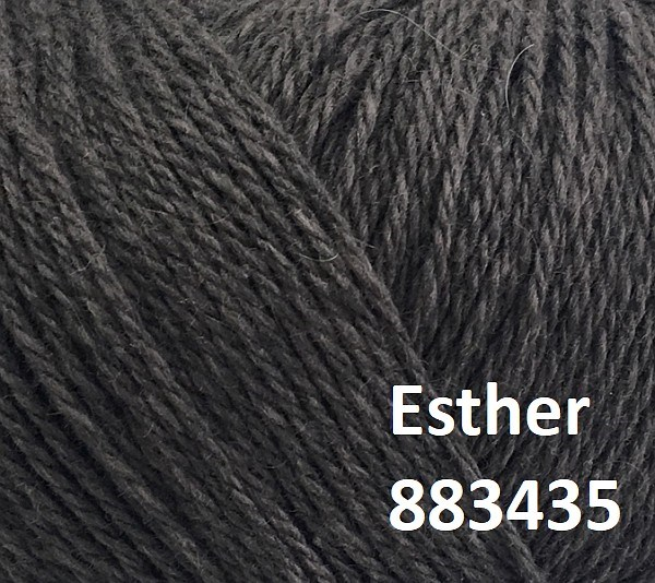 Esther by Permin garn i uld/bomuld. Farve 883435 Brun