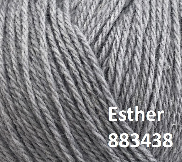 Esther by Permin garn i uld/bomuld. Farve 883438 Mellemgrå