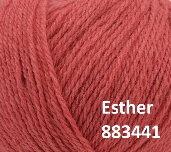 Esther by Permin garn i uld/bomuld. Farve 883441 Pink