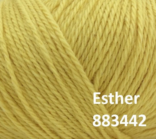 Esther by Permin garn i uld/bomuld. Farve 883442 Solgul