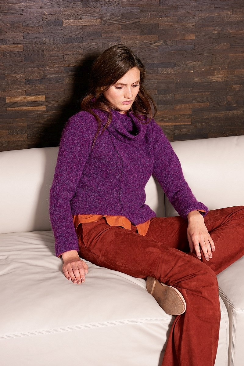 Lana Grossa Design Special 4 - model 41: Pullover og hals-loop