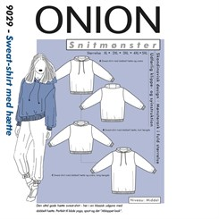 Onion 9029 - Sweat-shirt med hætte. Snitmønster