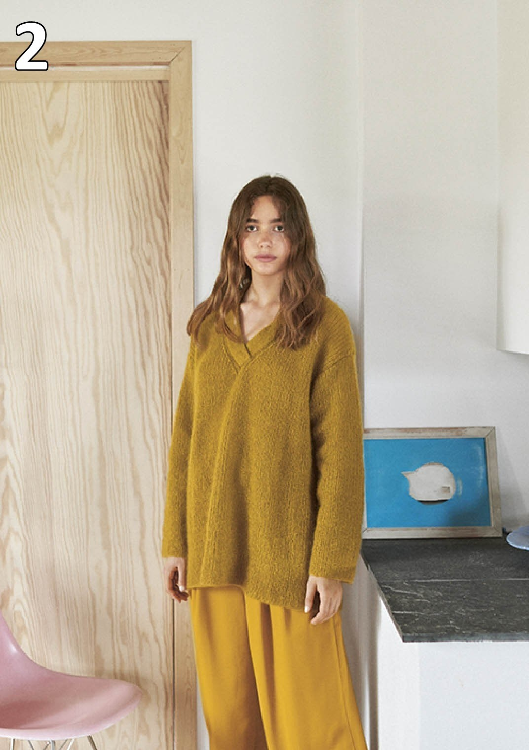 Sandnes strikkehæfte 1912 model 2 Ribgenser (sweater)