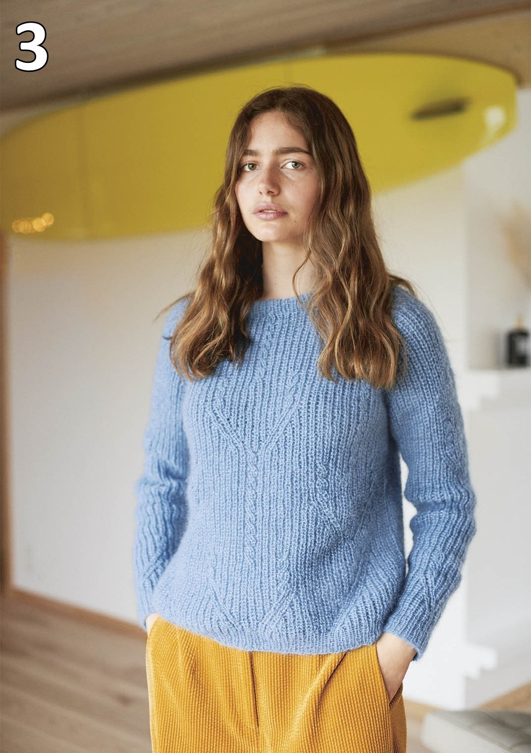 Sandnes strikkehæfte 1912 model 3 Tulipangenser (sweater)