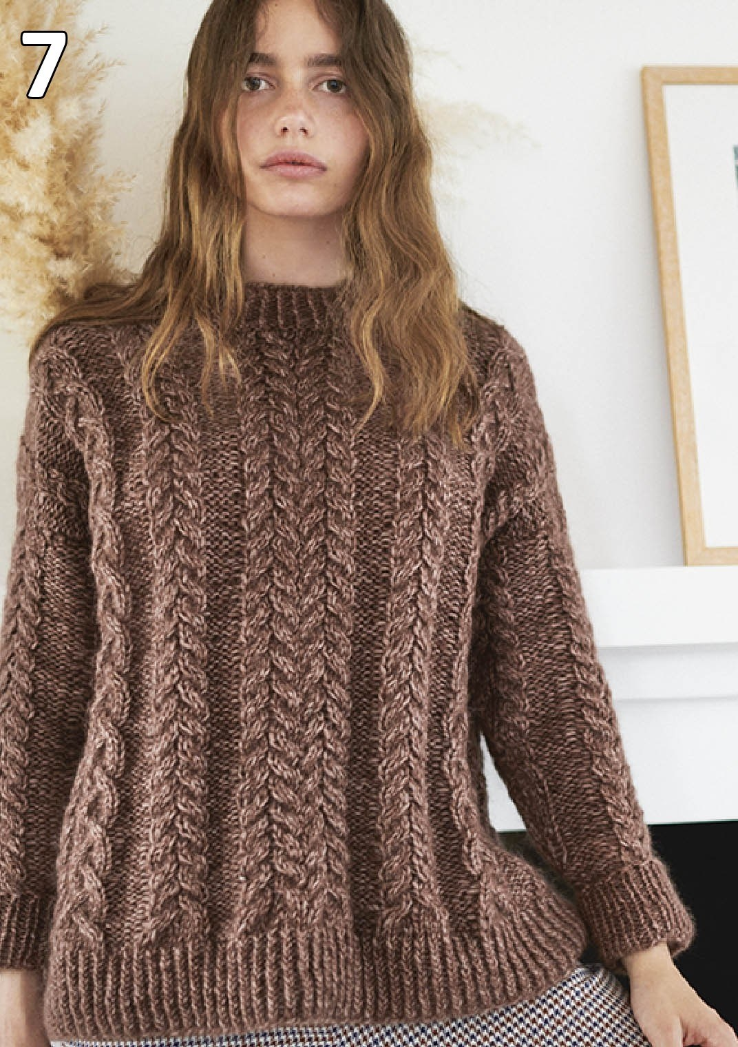 Sandnes strikkehæfte 1912 model 7 Flettegenser (sweater)