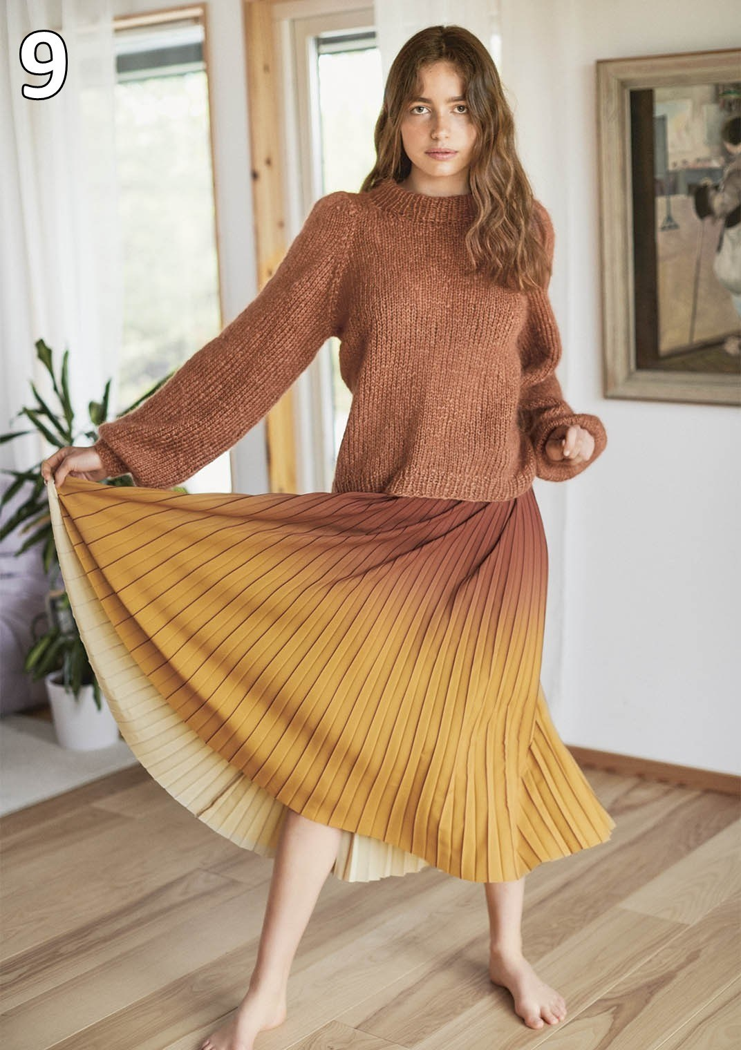 Sandnes strikkehæfte 1912 model 9 Pufgenser (sweater)