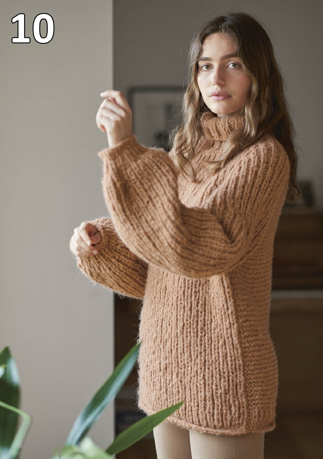 Sandnes strikkehæfte 1912 model 10 Reliefgenser (sweater)