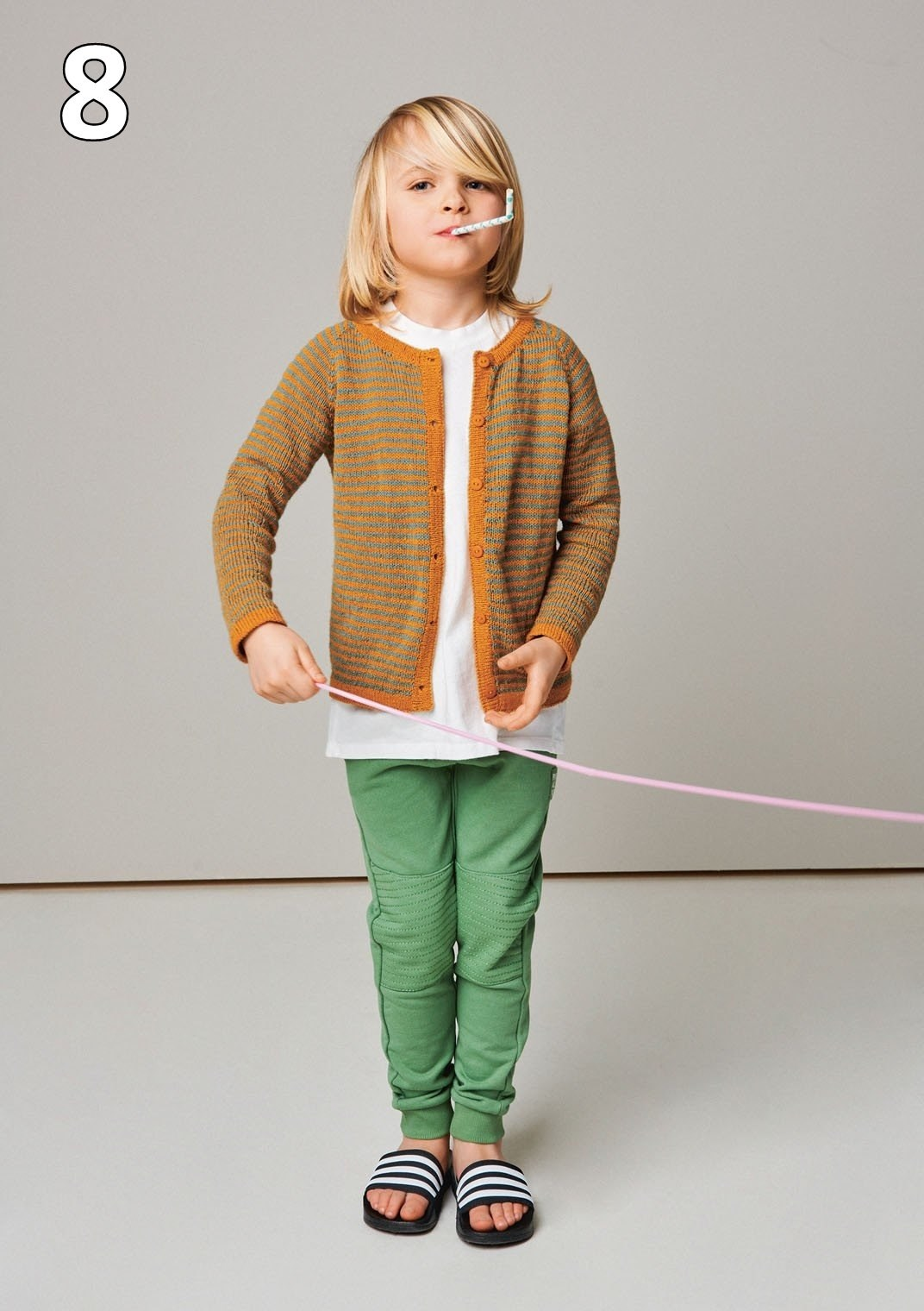 Sandnes 2105 model 8 Stribe-cardigan