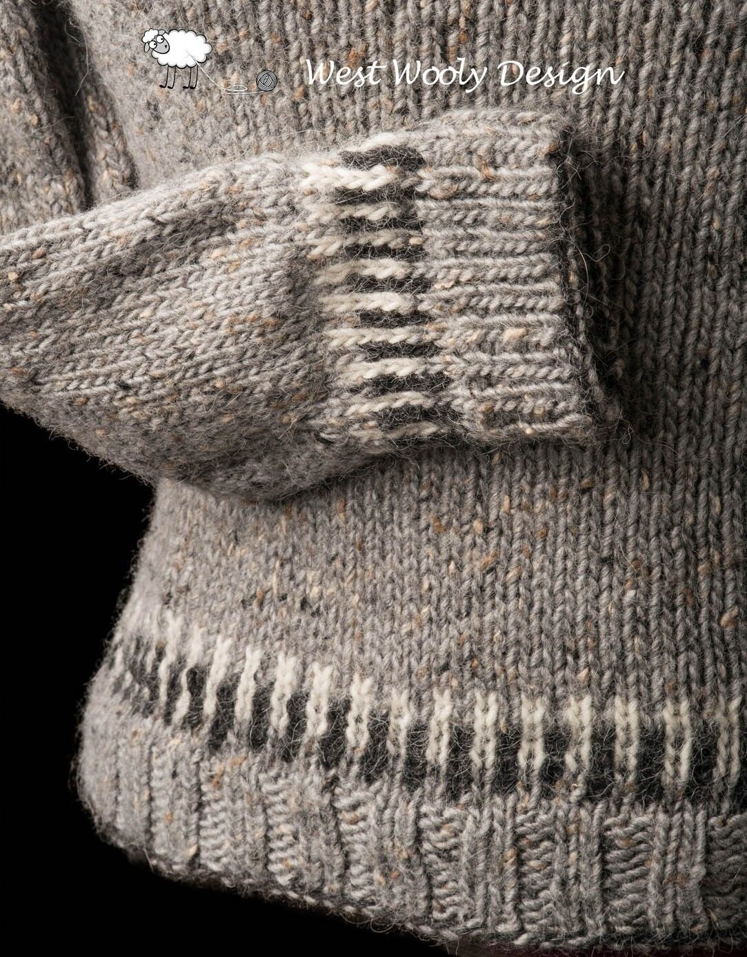 Straight Forward sweater fra West Wooly Design - ærme