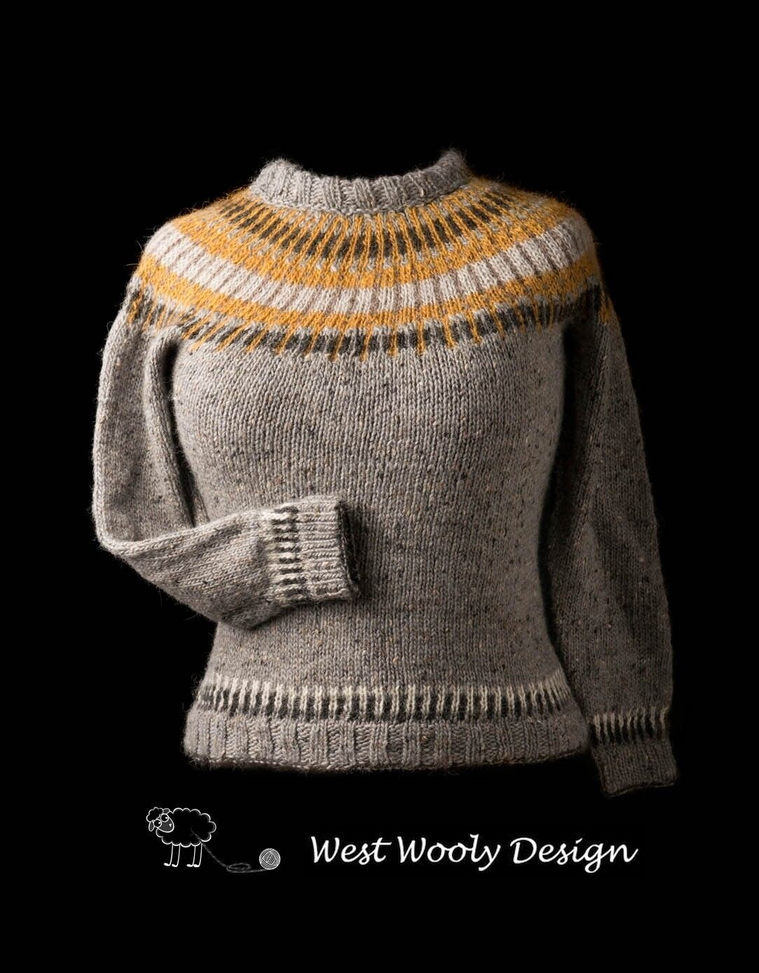 Straight Forward sweater fra West Wooly Design - forfra