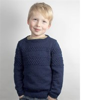 Sweater med sømandsbobler - strikket i Yaku superwash uld