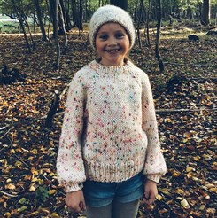 Chunky Sally Sweater Junior - strikkeopskrift fra Mille Fryd