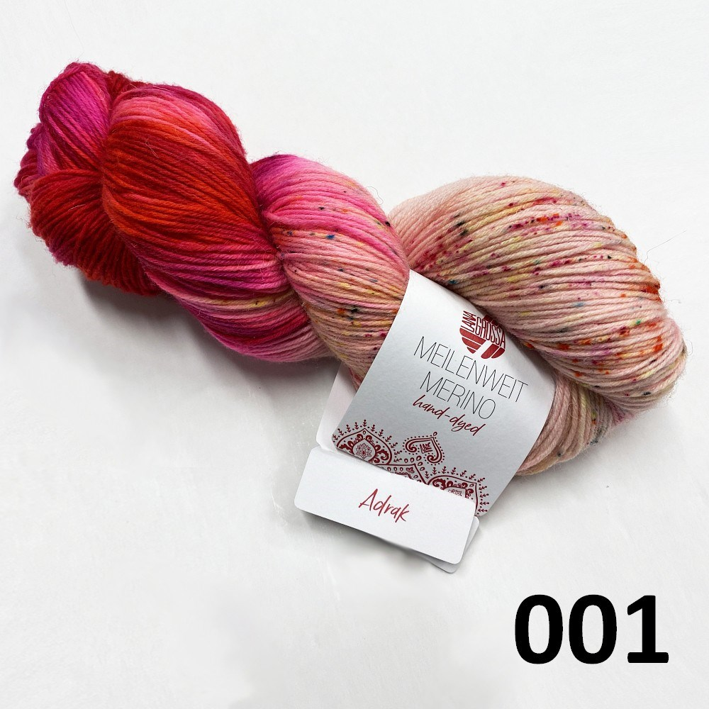Hand-dyed farve 001 Adrak