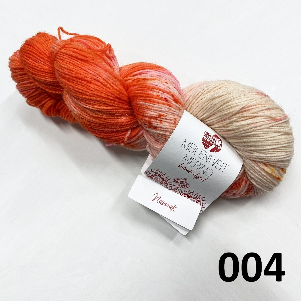 Hand-dyed farve 004 Namak