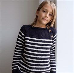 Seaside Sweater Junior - strikkeopskrift fra PetiteKnit